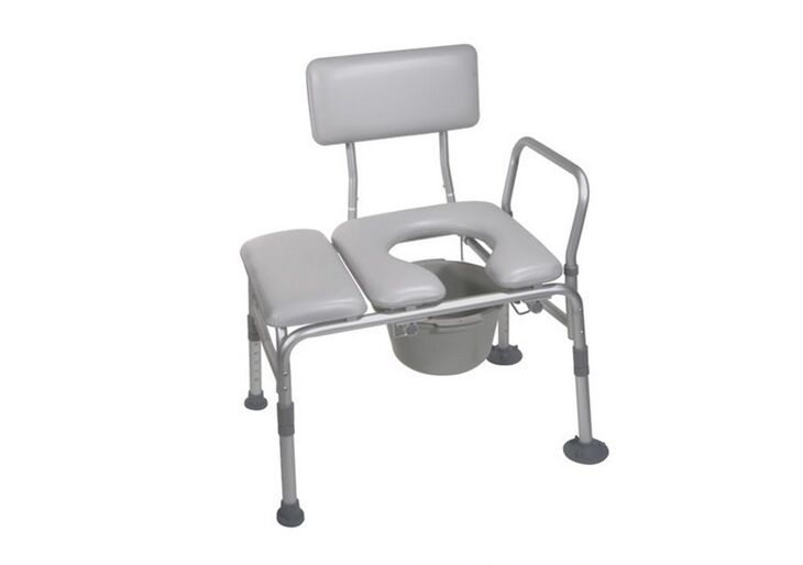 Nw Handicap Padded Seat Transfer Chair Bench Commode Toilet Bath Room Shower Tub Ebay