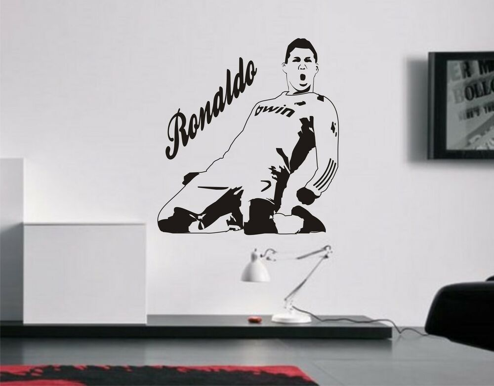 Cristiano ronaldo wall art sticker decal mural real for Cristiano ronaldo wall mural