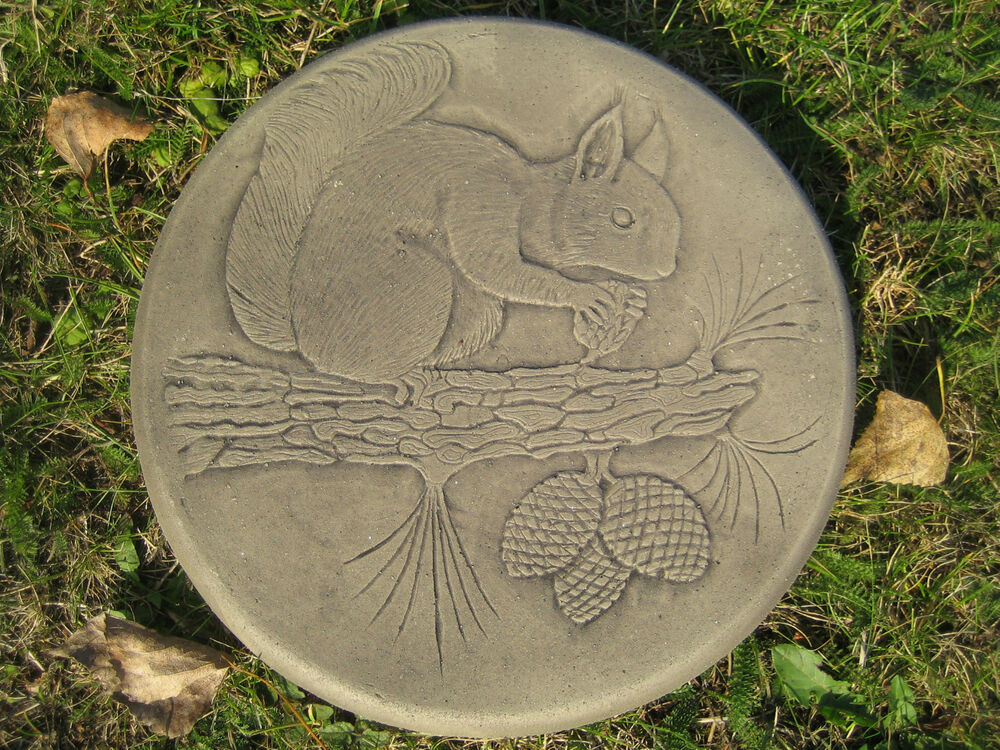 Squirrel stepping stone garden ornament 57 other designs for Garden stepping stone designs