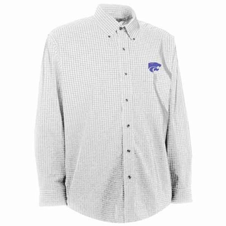 Nwt Kansas State Esteem Button Down Checked Pattern