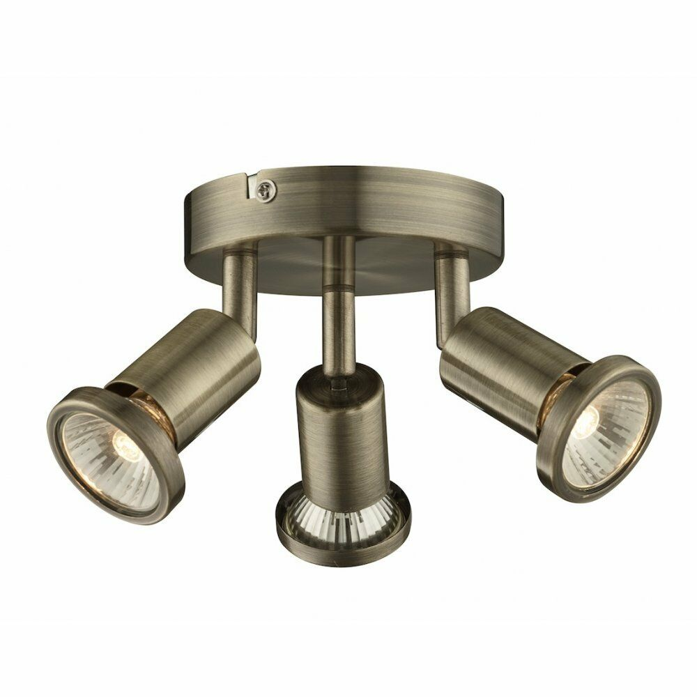 kitchen light fitting modern antique brass 3 way kitchen ceiling spot 2150
