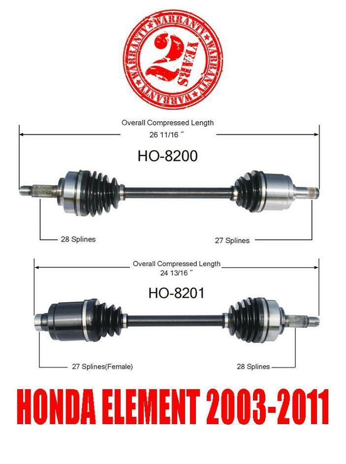 Honda Element 2003 2011 Front Left And Right Cv Shaft