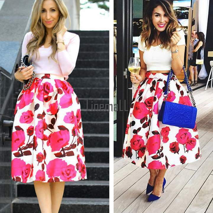 Women Swing Hepburn Skirt A Line Pleated High Waist Midi Ball Gown ...
