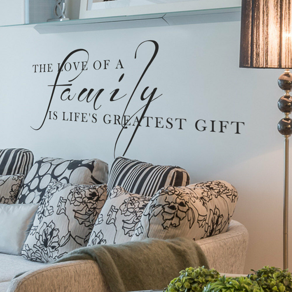 Love Family Gift Living Room Wall Art Decal Quote Words Lettering Decor Ebay