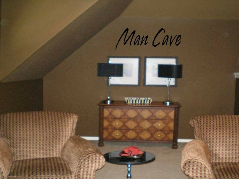 Diy Wall Art For Man Cave : Man cave quote decal wall words lettering art garage