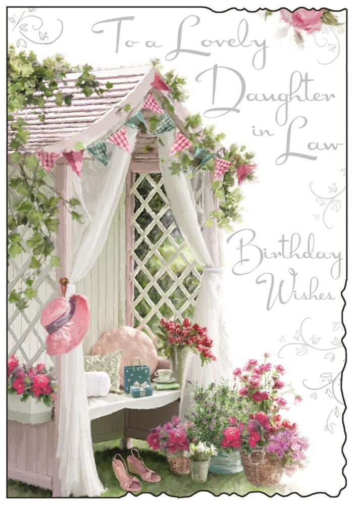 Daughter in Law Birthday Card Luxury Card Lovely Verse – Birthday Cards for Daughter in Law