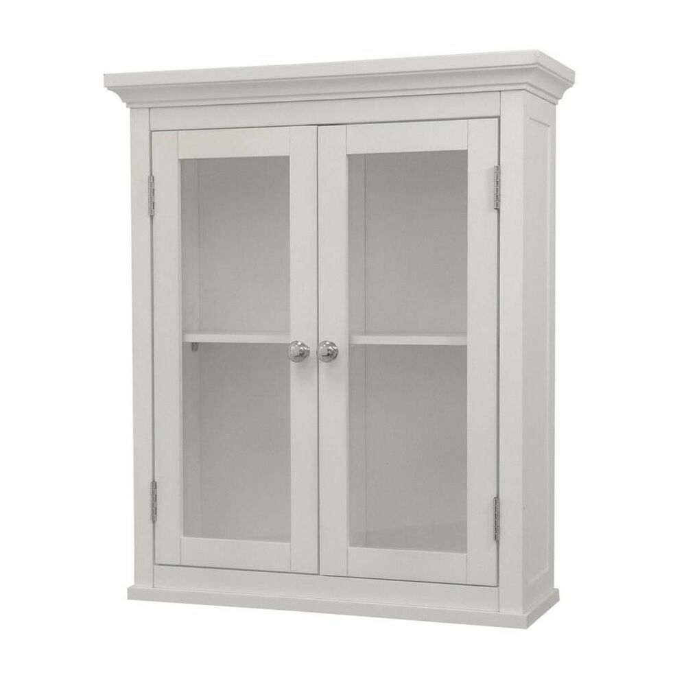 Madison Ave Wall Mount Medicine Cabinet W 2 Glass Doors