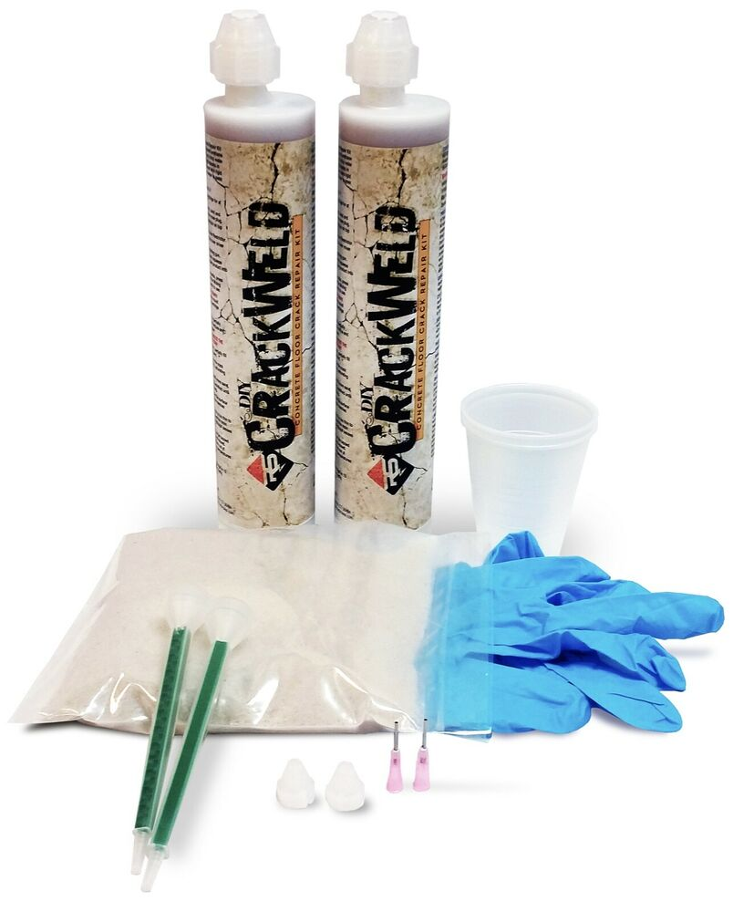 Crackweld concrete floor repair kit 2 pack hairline for Concrete home kits