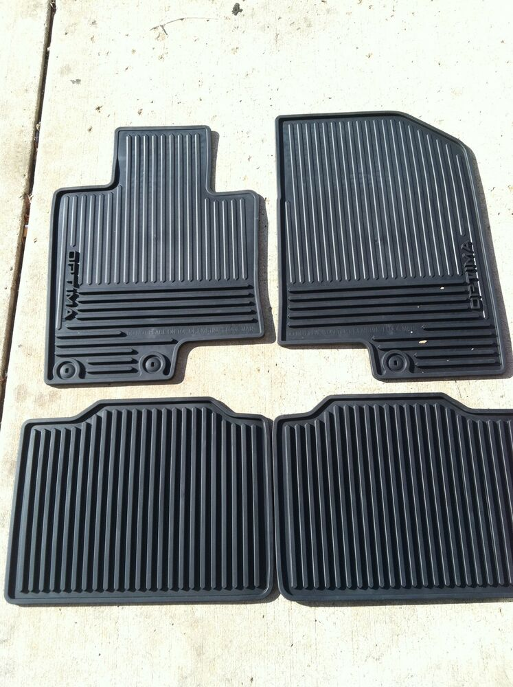 New Oem 2014 2015 Kia Optima All Weather Rubber Floor Mats