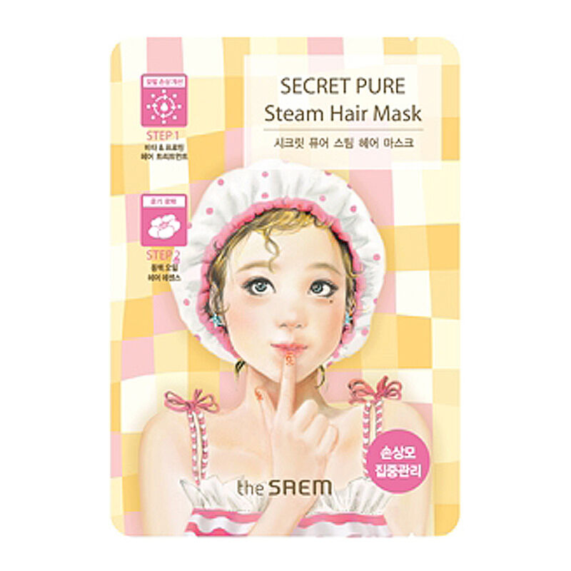 [THE SAEM] Secret Pure Steam Hair Mask 1 pcs [One-time ...