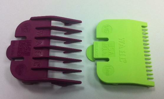 wahl clipper guard attachment combs x 2 size 0 5 size 1 5 ebay. Black Bedroom Furniture Sets. Home Design Ideas