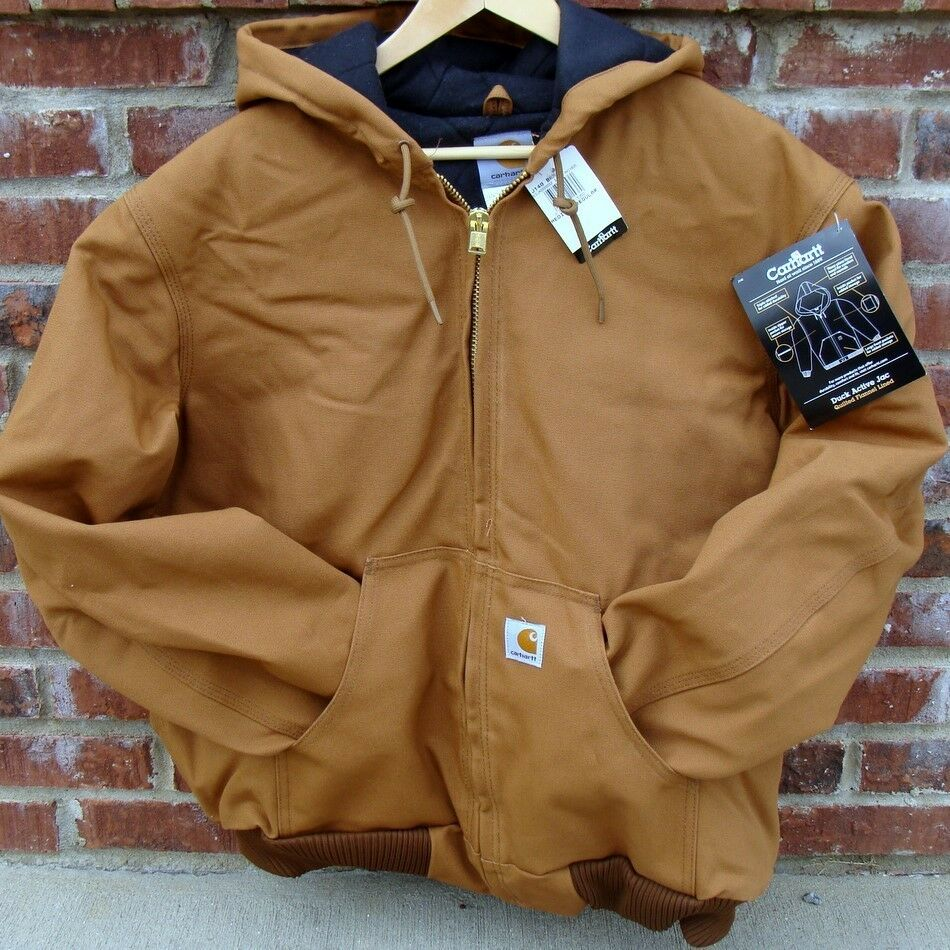 Carhartt J140 Active Jacket Flannel Lined Brown Tall 3x Ebay