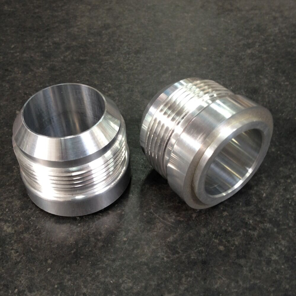 An male aluminum weld on fitting bung made in the usa