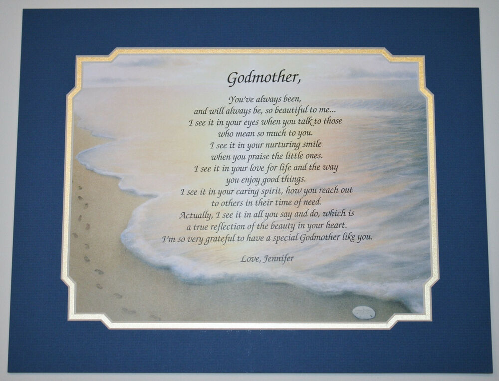 Gift For Godmother Godmother Gift Mothers Day Gift: GODMOTHER Personalized Poem GIFT The PERFECT Gift For ANY