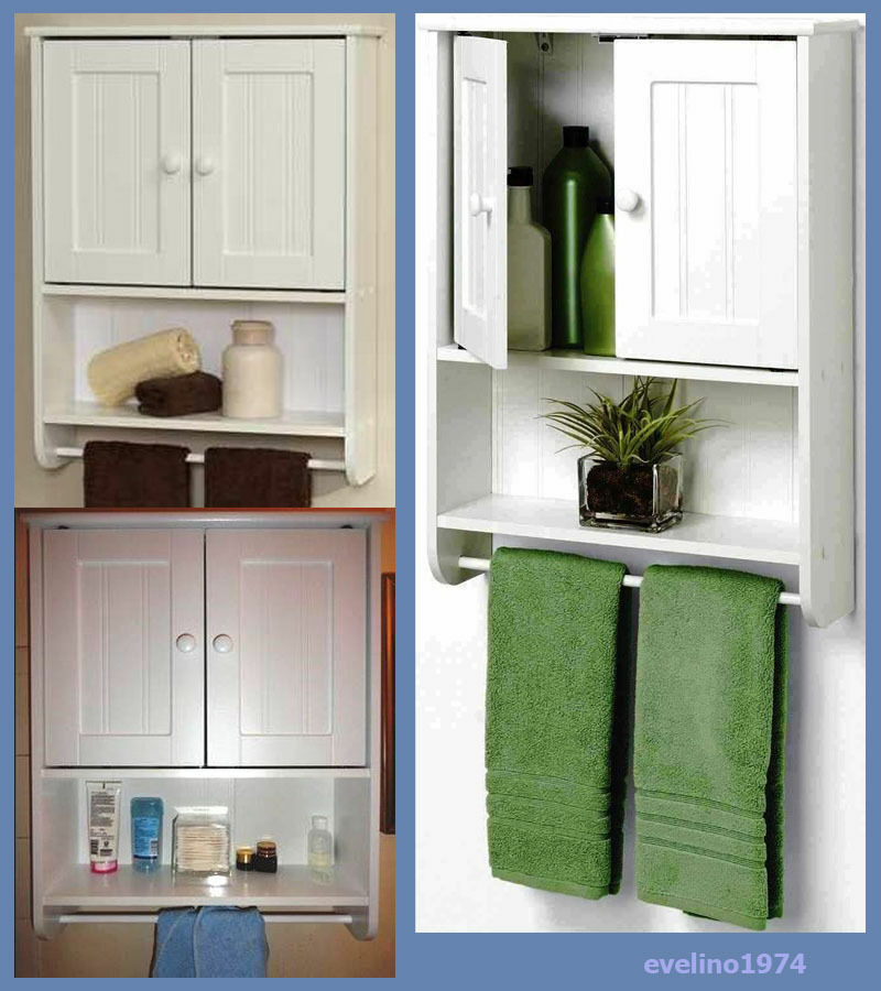 wall cabinet towel bar toilet storage medicine cabinet