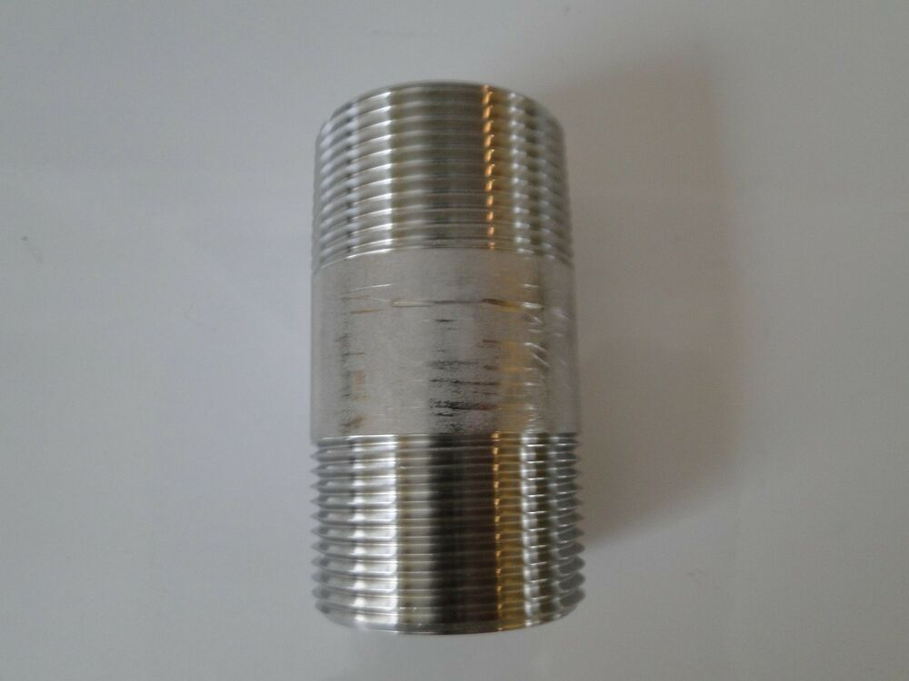 Stainless steel pipe nipple npt quot x close