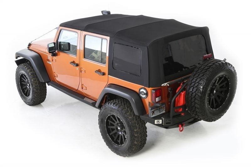 2010 2017 jeep wrangler unlimited twill replacement soft top tinted windows ebay. Black Bedroom Furniture Sets. Home Design Ideas