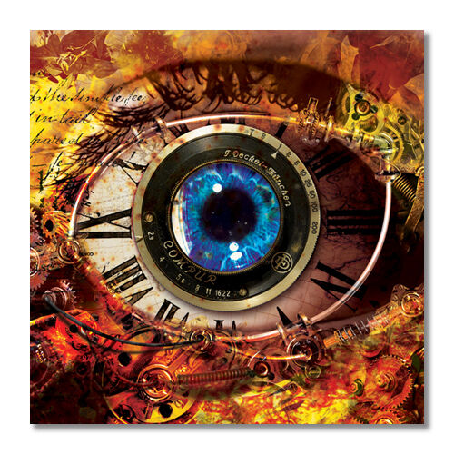 Steampunk Zombie Robot Eye Sticker Car Truck Bumper