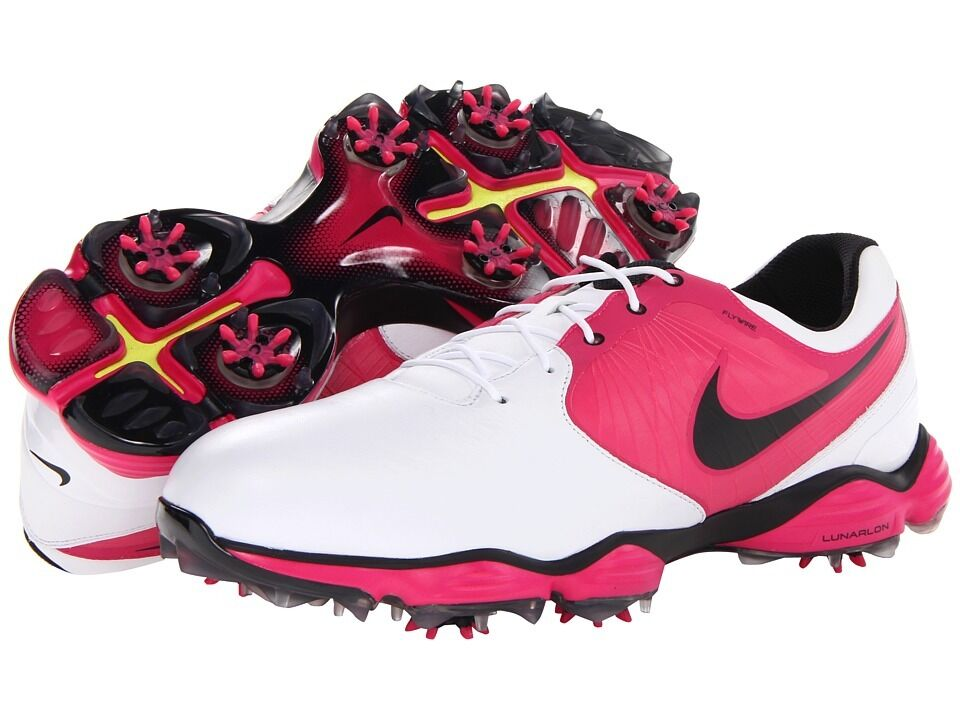 new nike lunar ii mens golf shoes white pink black