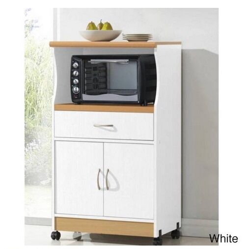New Rolling Microwave Cart Stand Drawer Storage Cabinet