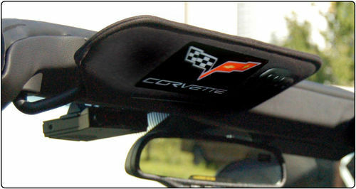 Corvette C6 Visor Airbag Decal Covers Domed High Quality