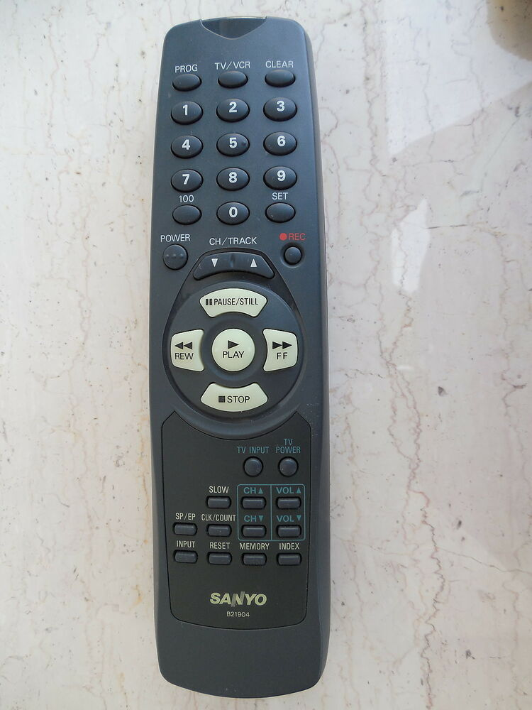 The Vcr From Heck Fifty Cartoons Week Tuesday 50: SANYO B21904 TV/VCR REMOTE CONTROL ORIGINAL