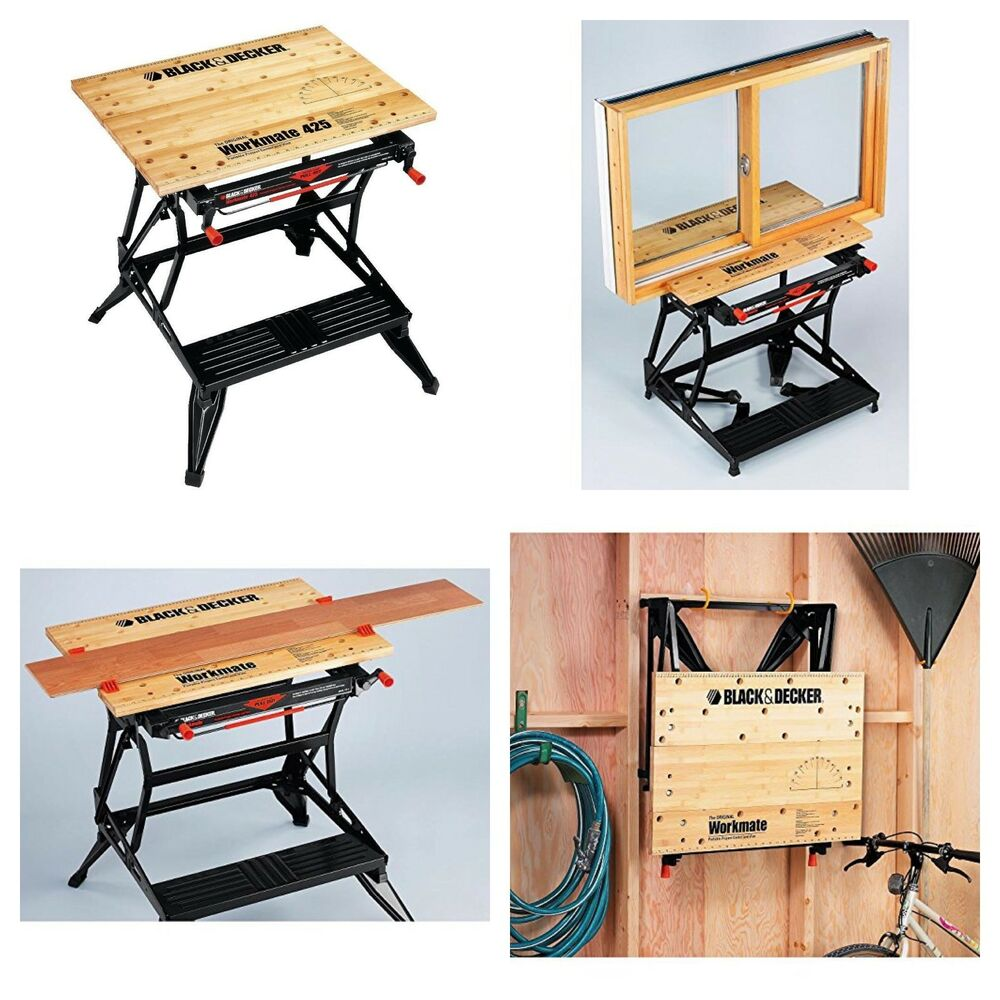 New Portable Industrial Workbench Tool Stand Clamp Table Garage Wood Heavy Duty Ebay