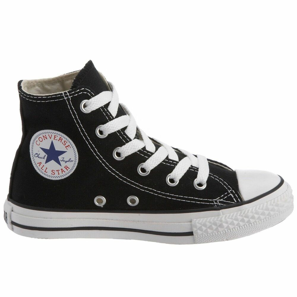 CONVERSE CHUCK TAYLOR BLACK/WHITE HIGH TOP CANVAS FOR KIDS ...