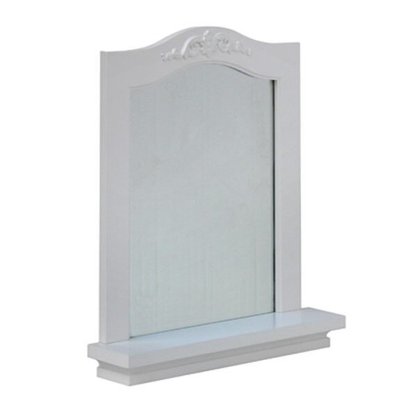 modern wall mount bathroom mirror with shelf white or espresso ebay