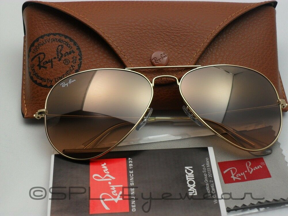 Ray Ban Aviator Gradient RB 3025 001/3E Gold Silver Pink Mirror