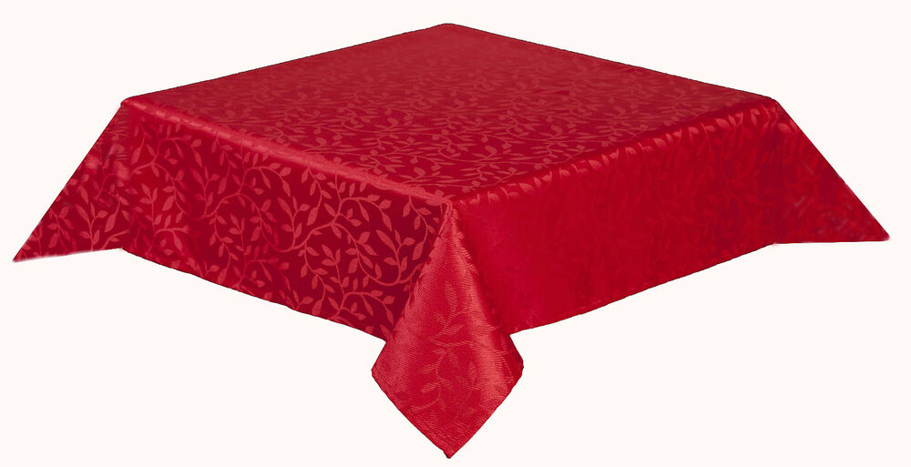 50 x 70 inch oblong tablecloth polyester satin leaf design for 85 inch tablecloths