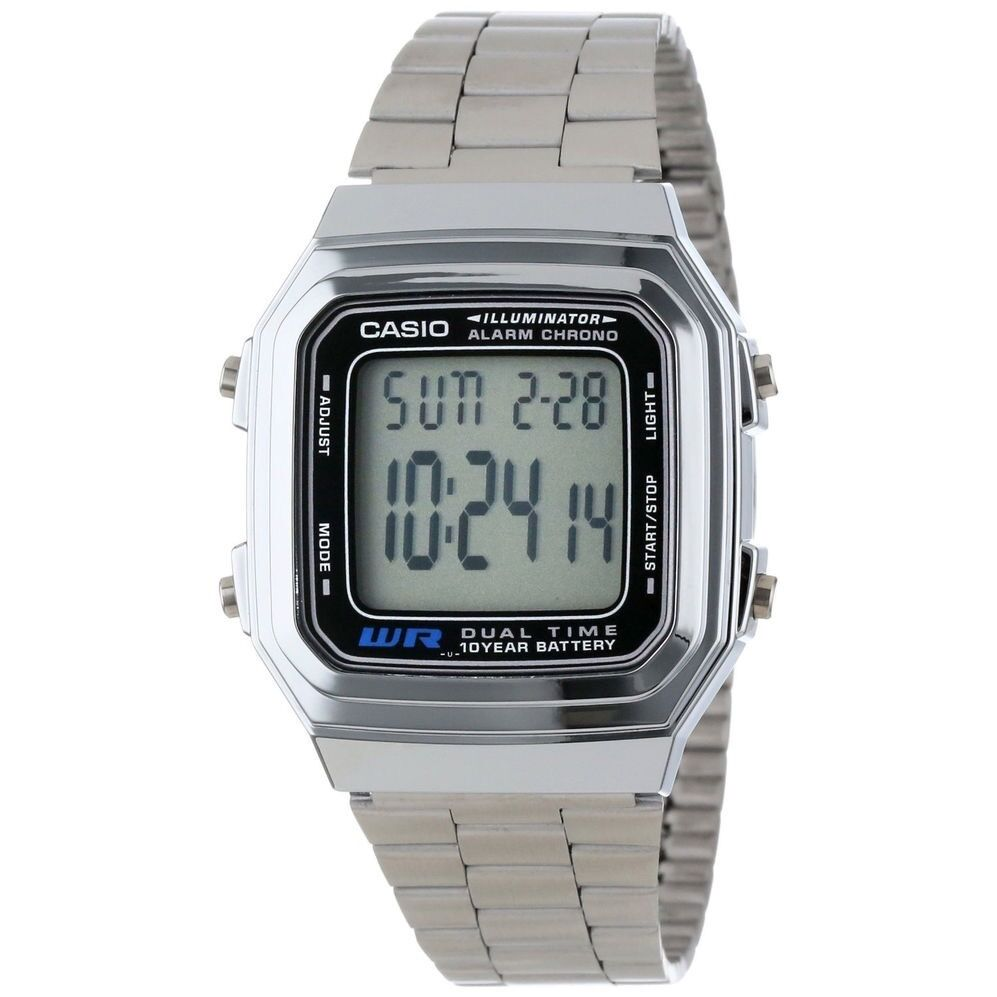 Casio Digital Mens Watch A178WA-1ADF. TRDV