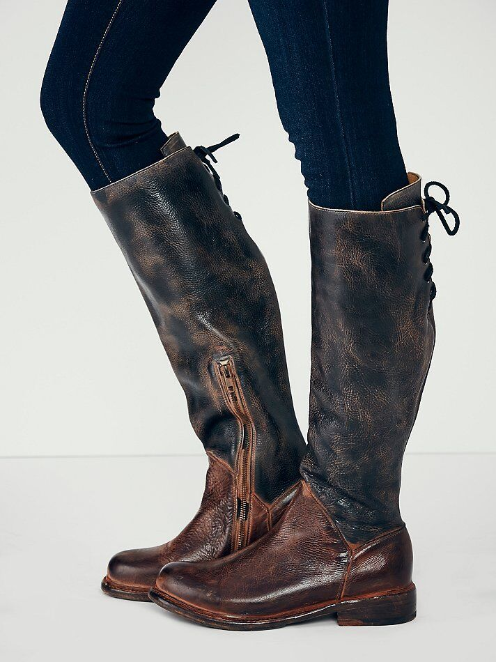 Bed Stu Free People Manchester Ii Tall Boots Black Rustic