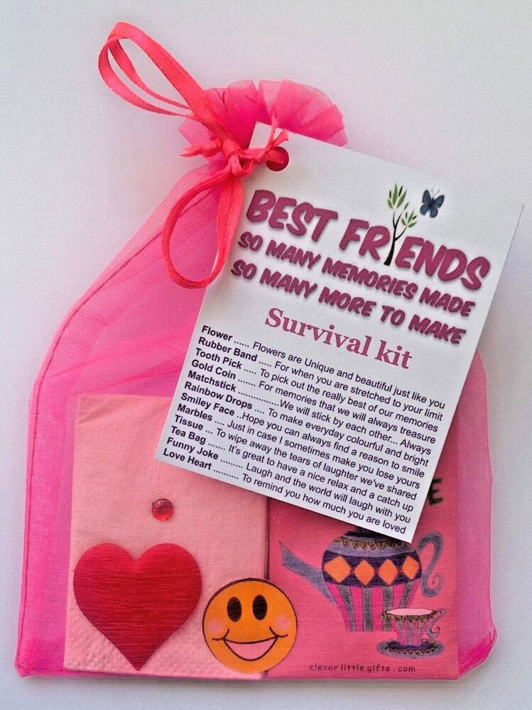 BEST FRIEND SURVIVAL KIT THANK YOU PERSONALISED FUN ...
