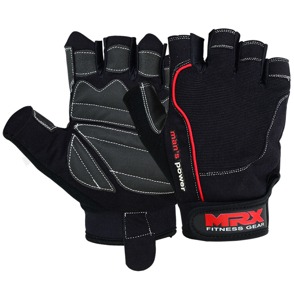 Fitness Weight Lifting Gloves: Weight Lifting Gloves Fitness Gym Training Glove Leather