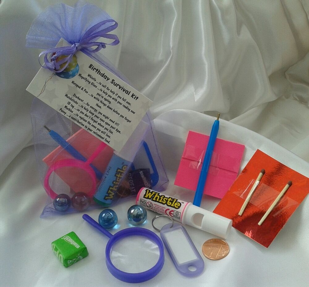 Birthday Survival Kit. Unique Novelty Gift Ideal