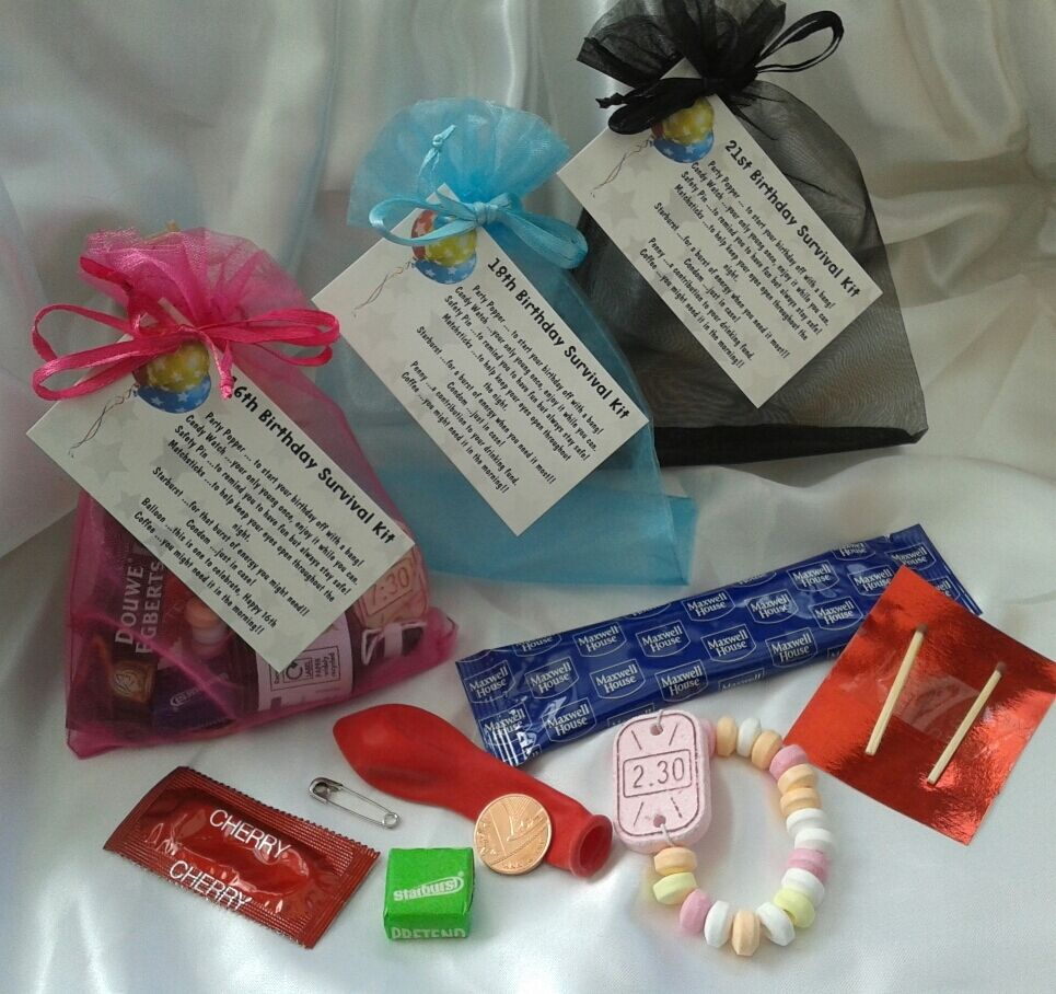 18th Birthday Survival Kit Birthday Gift Novelty Present: 21st Birthday Survival Kit. Novelty Gift Hand Made Present