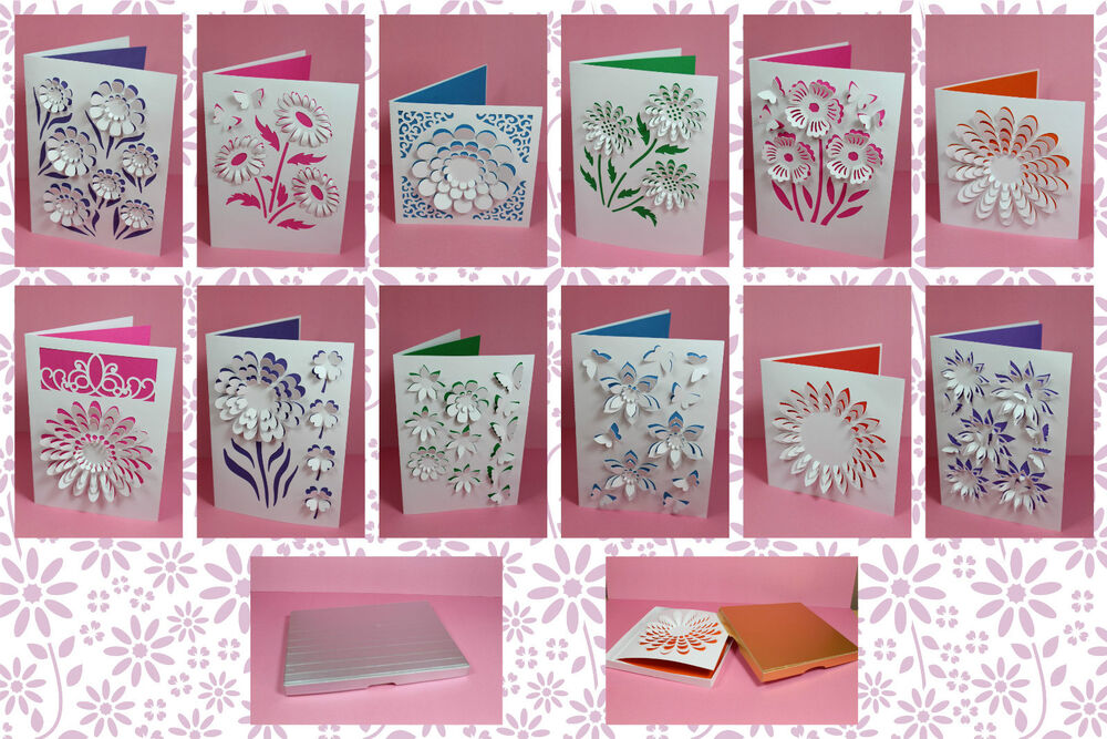 CRAFT ROBO/SILHOUETTE 3D Flower card templates CD151 by cocopopart ...