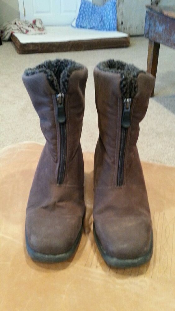 Toe Warmers Canada Womens Ankle Boots Waterproof Brown