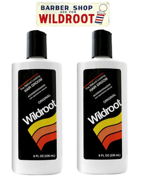 Men Hair Tonic 1950s: Wildroot Hair Cream Oil Hair Tonic, Original Barbers