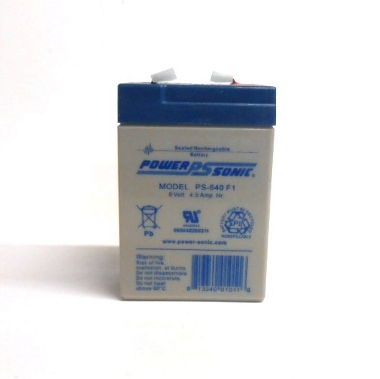 Power Sonic Backup Non Spillable Battery Ps 640 F1 F1