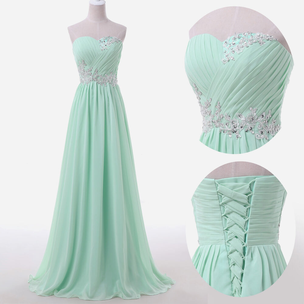Plus size long dress beaded prom evening gown ball party for Evening gown as wedding dress