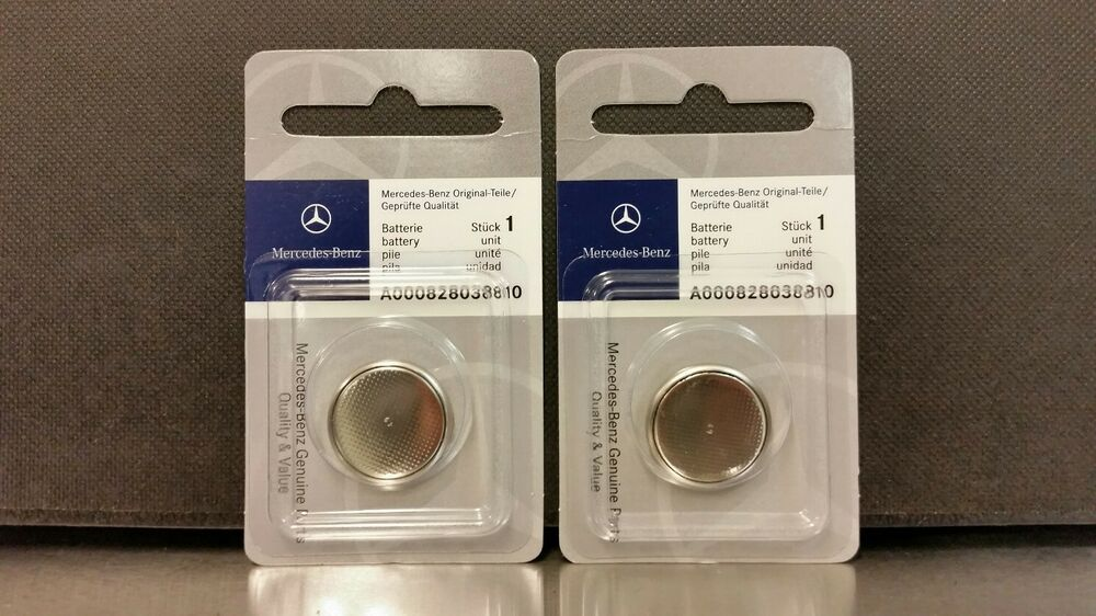 Mercedes benz remote key batteries 2 pack oem ebay for Mercedes benz key battery