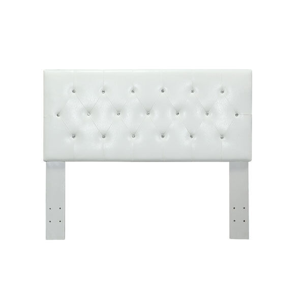 Mantua Modern Style White Leatherette Upholstered