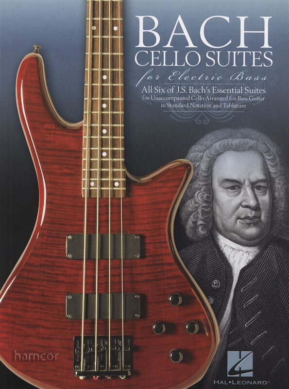 bach cello suites electric bass guitar tab music book ebay. Black Bedroom Furniture Sets. Home Design Ideas