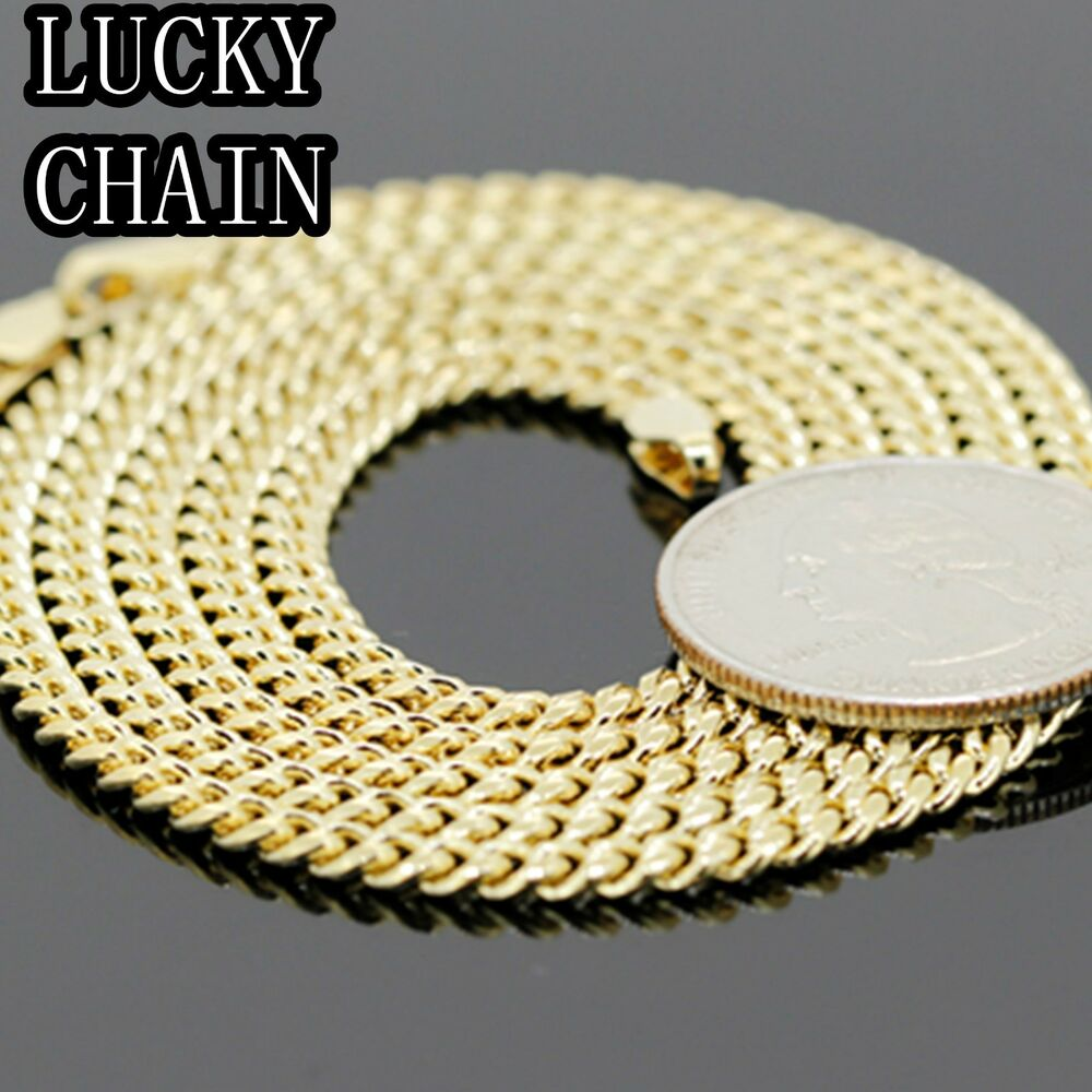 30 Quot 14k Gold Plated Miami Cuban Link Chain Necklace 3 5mm