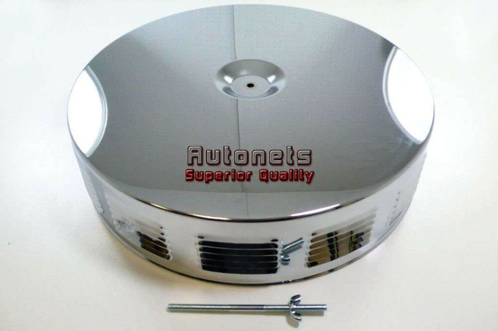 Built Rat Rod Air Cleaner : Quot round louvered chrome air cleaner street hot rat rod