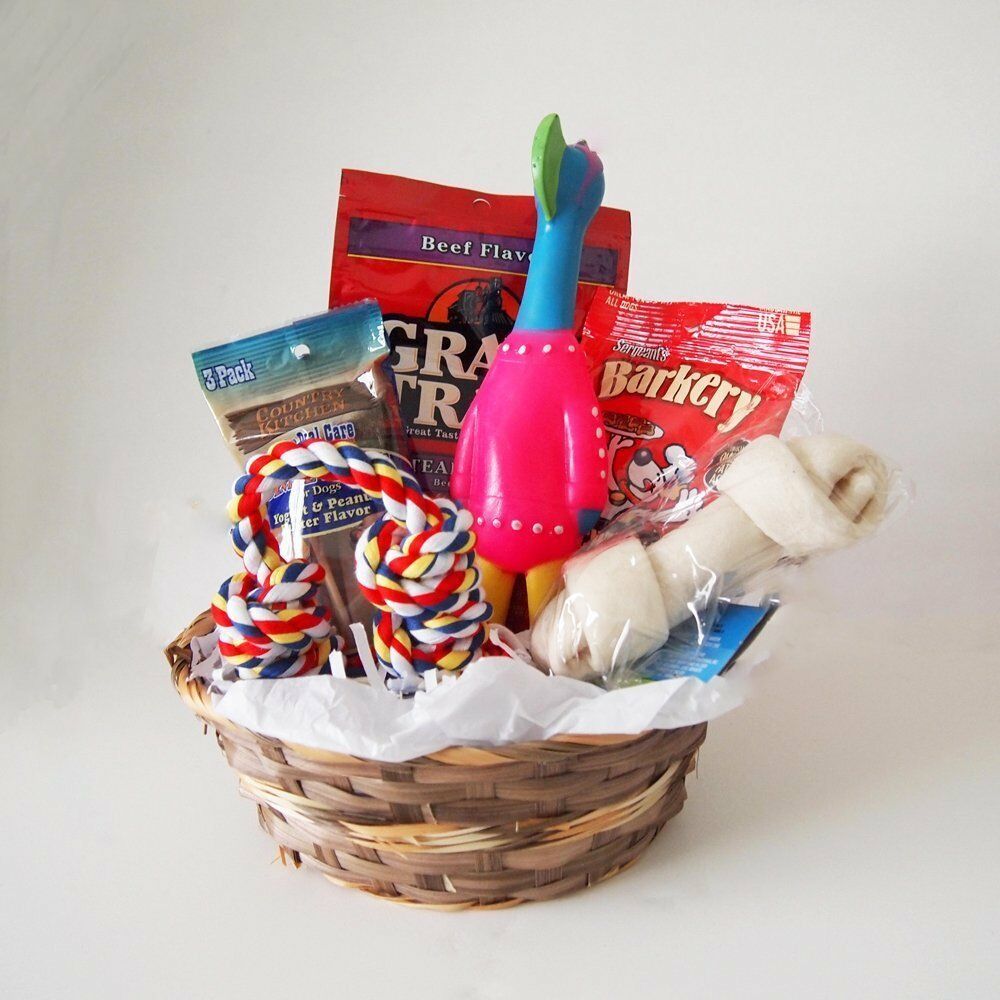 Toys And Gifts : Dog gift basket treats crewing toy holiday set ebay