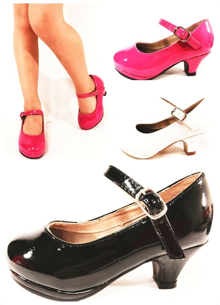 New Girl's Youth Cute Patent Mary Jane High Heel Classic ...