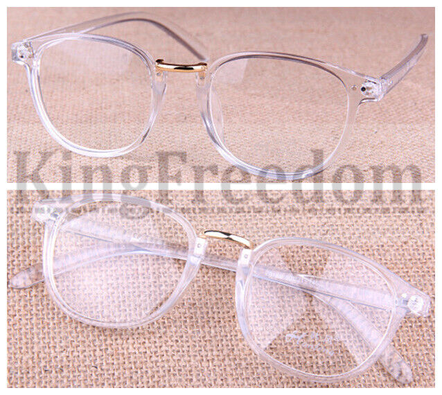 hot sale transparent eyeglass frame clear glasses full rim retro spectacles rx ebay